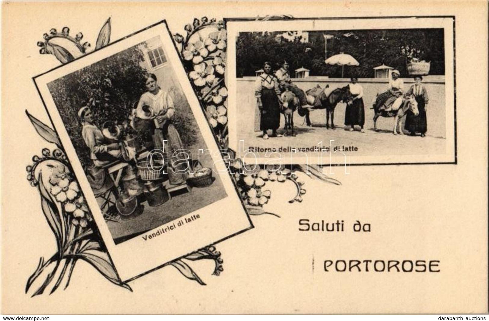 ** Portoroz, Portorose (Piran, Pirano) - 6 Db Régi Városképes Lap / 6 Pre-1945 Town-view Postcards - Unclassified