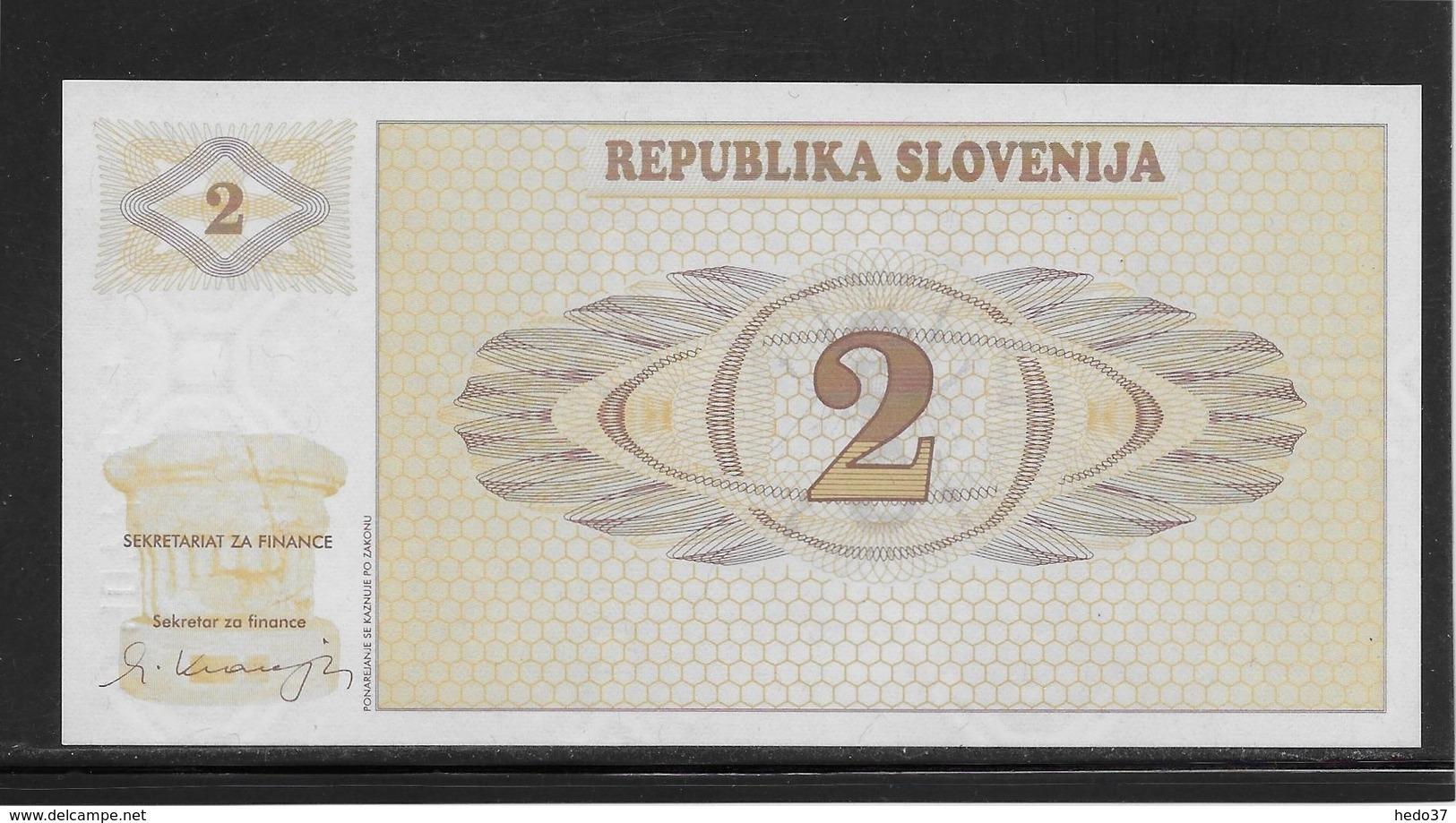 Slovénie - 2 Tolarjev - Pick N°2 - NEUF - Slovénie