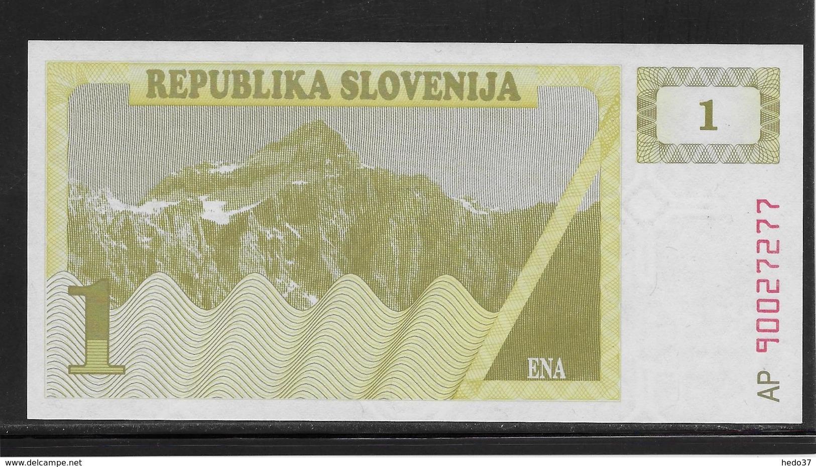 Slovénie - 1 Tolar - Pick N°1 - NEUF - Slovénie