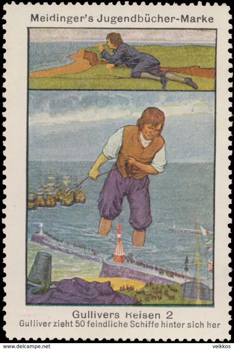 Berlin : Gulliver Zieht 50 Feindliche Schiffe Hinter Sich Her Reklamemarke - Cinderellas