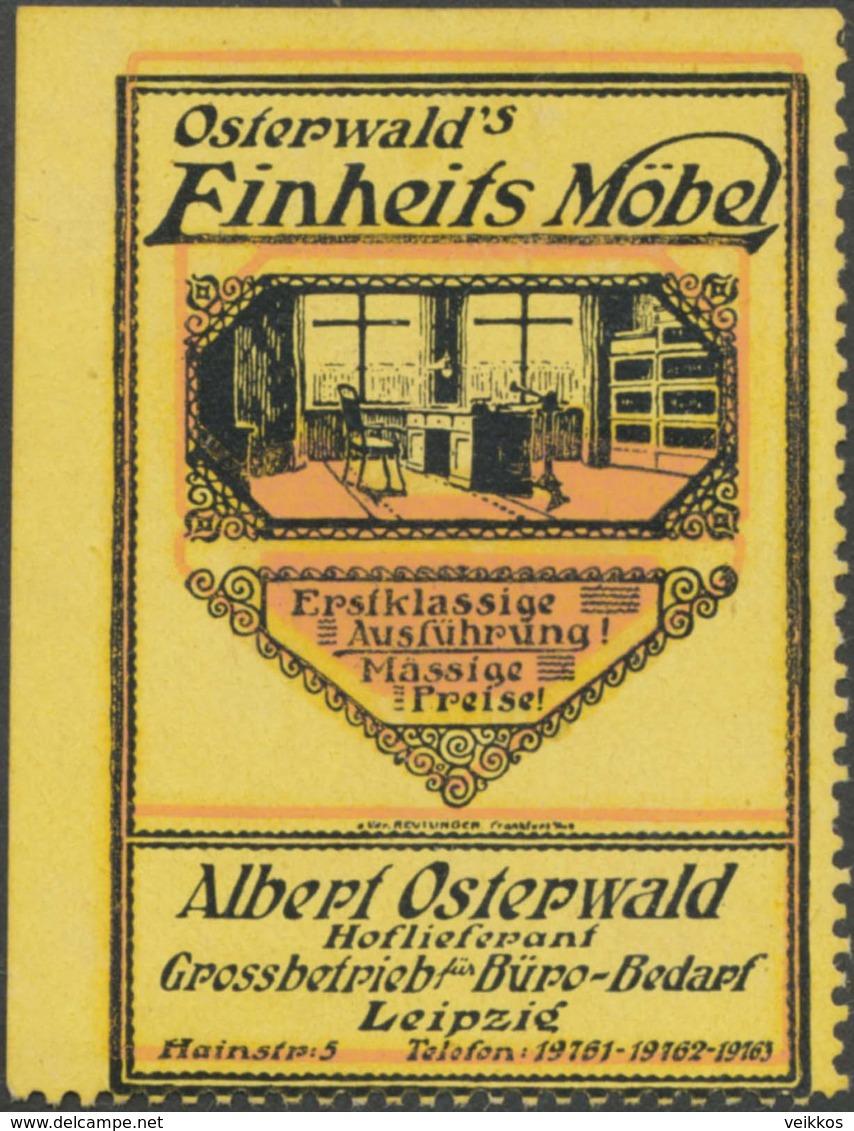 Leipzig: Osterwalds Einheits Möbel Reklamemarke - Vignetten (Erinnophilie)