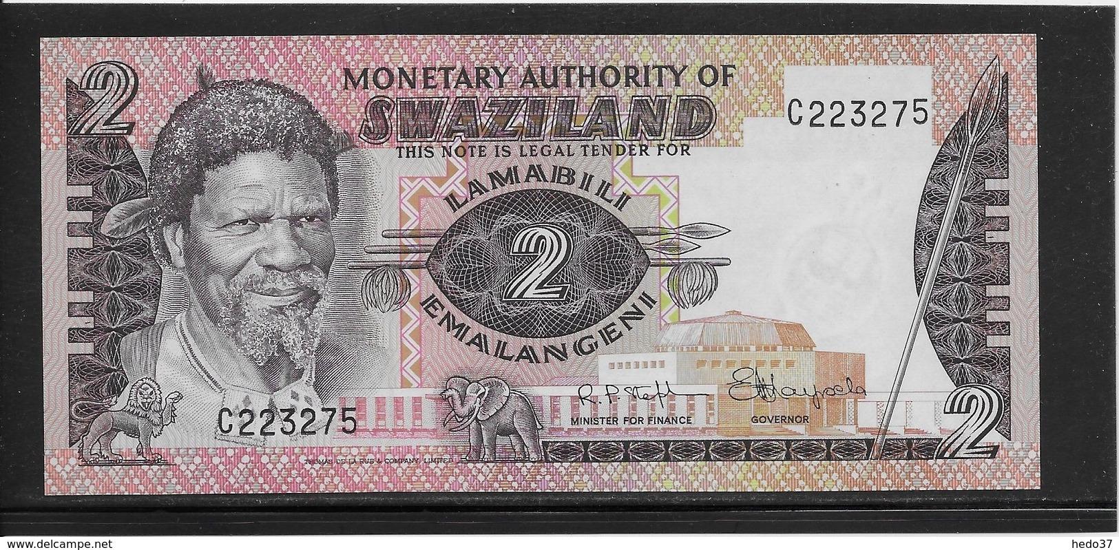 Swaziland - 2 Emalangeni - Pick N°2 - NEUF - Swaziland