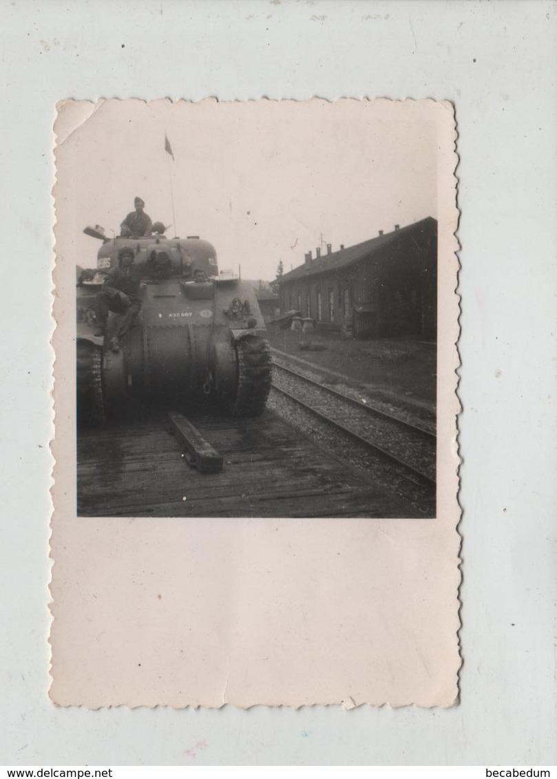 Photo Originale Juin 1945 Leutkirch  Char Tank à Identifier DB - Krieg, Militär