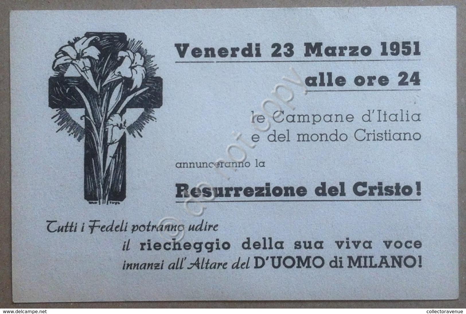Volantino Universale Ecclesia Di Cristo - Milano 1951 - Vecchi Documenti