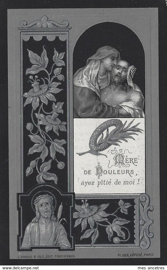 En 1898 Borre (59) Jeanne DEGRENDEL Née En 1814 - Todesanzeige
