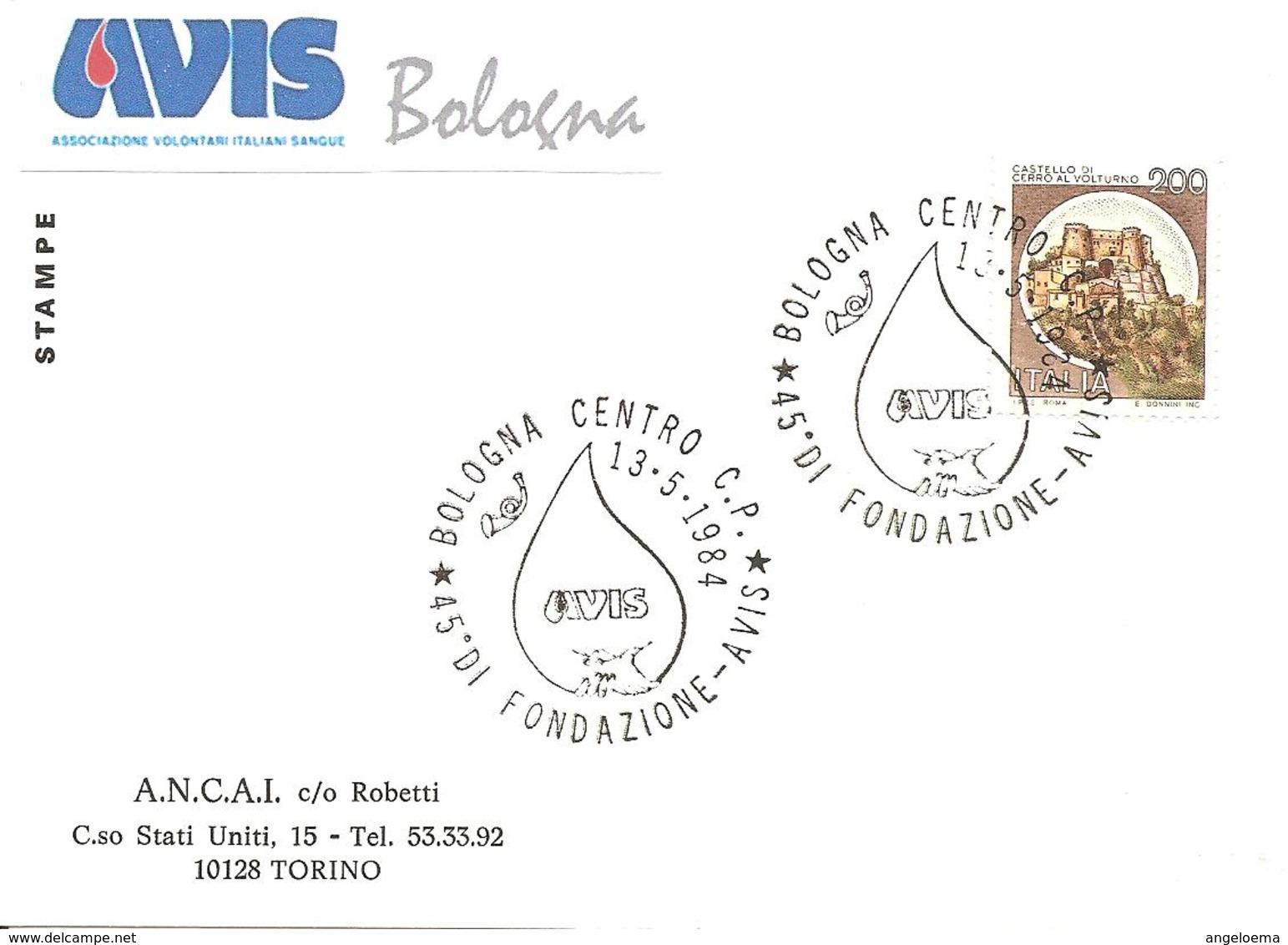 ITALIA - 1984 BOLOGNA 45° Fondazione Donatori Sangue AVIS - 1753 - Salute