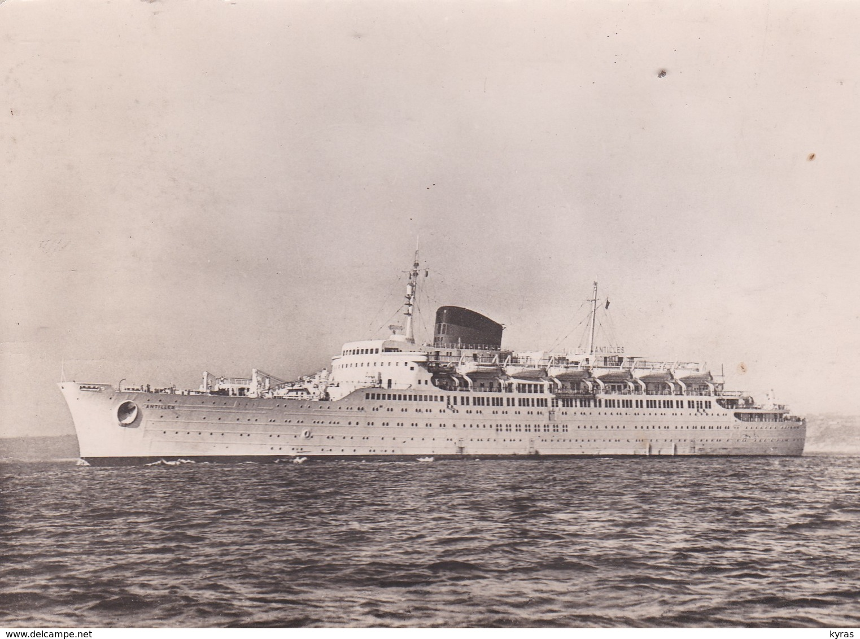 """Cpsm 10X15 . PAQUEBOT  Cie Gale Transatlantique .Le """" ANTILLES  """" Ligne Des Antilles Et De La Côte Ferme - Paquebots"""