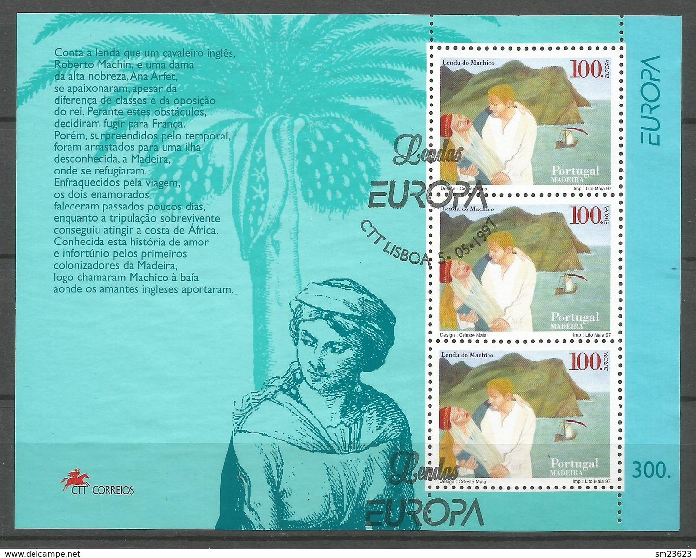Portugal / Madeira 1997  Mi.Nr. Block 16 (191)  EUROPA CEPT Sagen Und Legenden - Gestempelt / Fine Used / (o) - 1910-... República