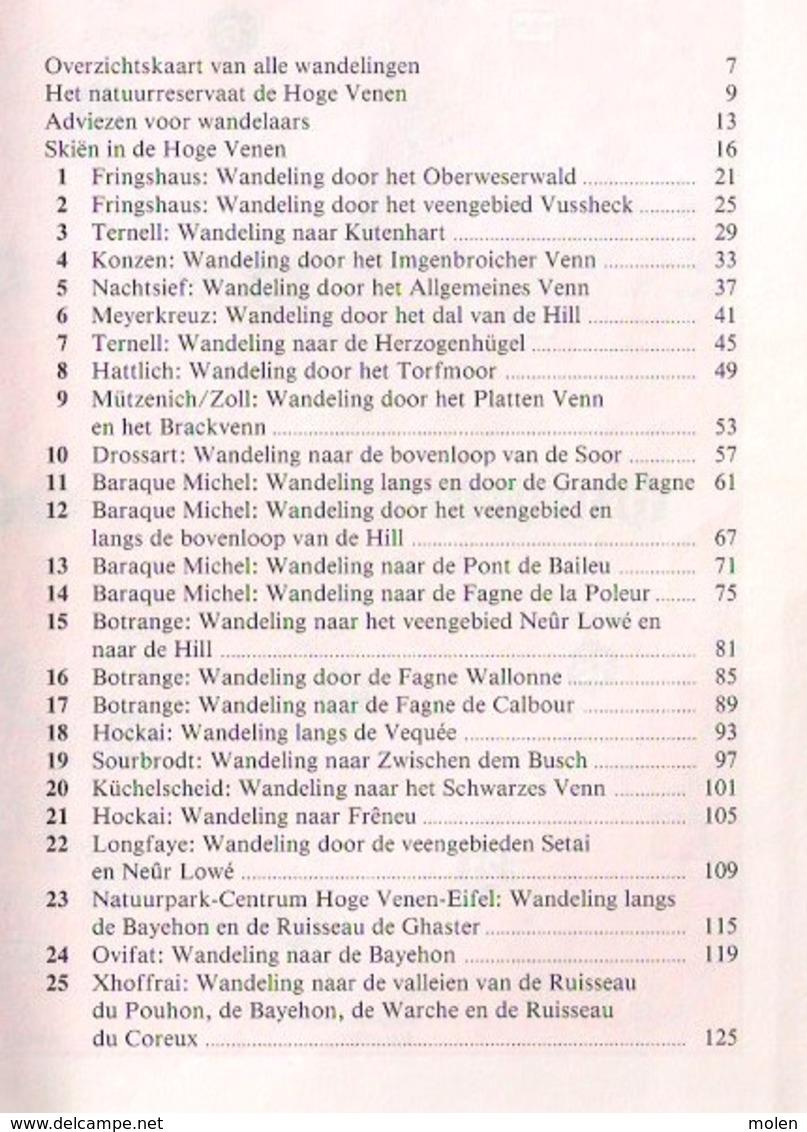 WANDELEN DOOR DE HOGE VENEN Lannoo 25 WANDELINGEN DOOR VEEN EN WOUD Ook SKIËN EN LANGLAUFEN Botrange Baraque Michel Z370 - Libros, Revistas, Cómics
