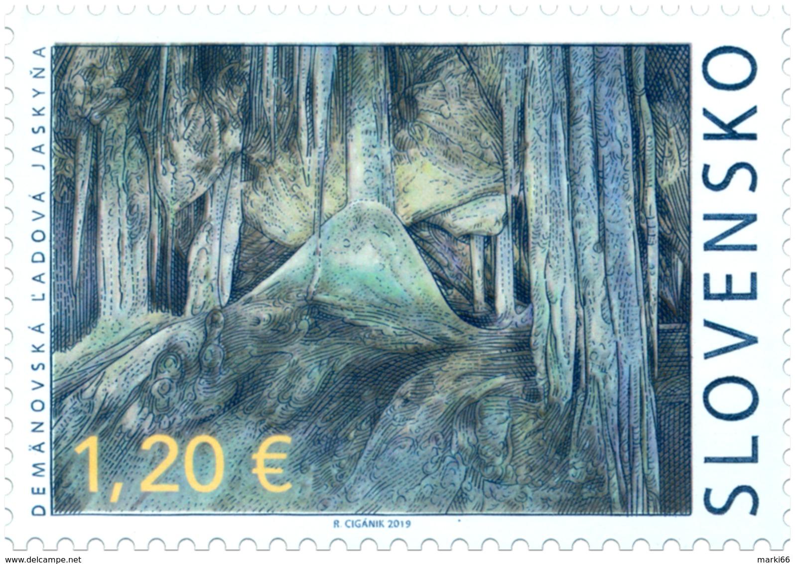Slovakia - 2019 - Beauties Of Our Homeland - Demänovská Ice Cave - Mint Stamp - Slovacchia