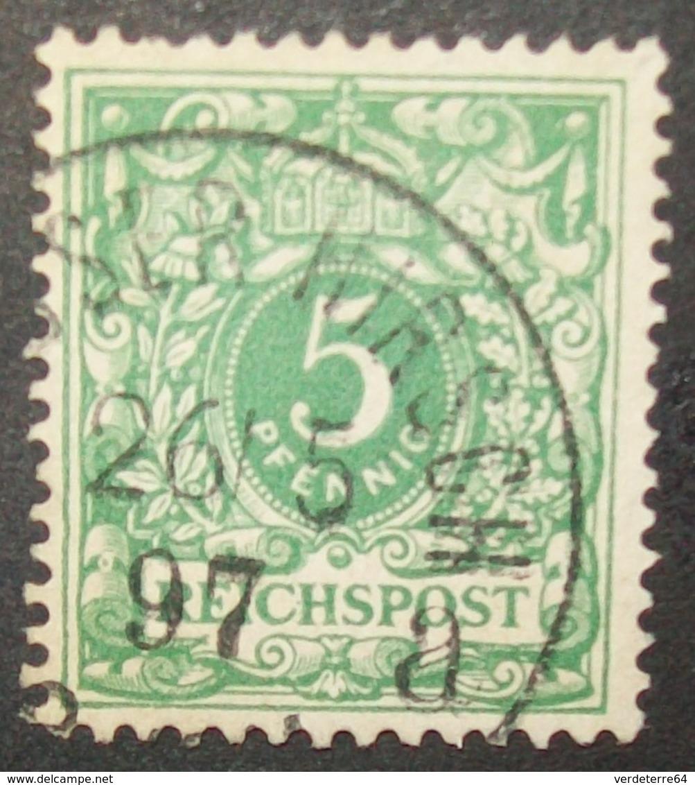 N°1281 TIMBRE DEUTSCHES OBLITERE - Alemania