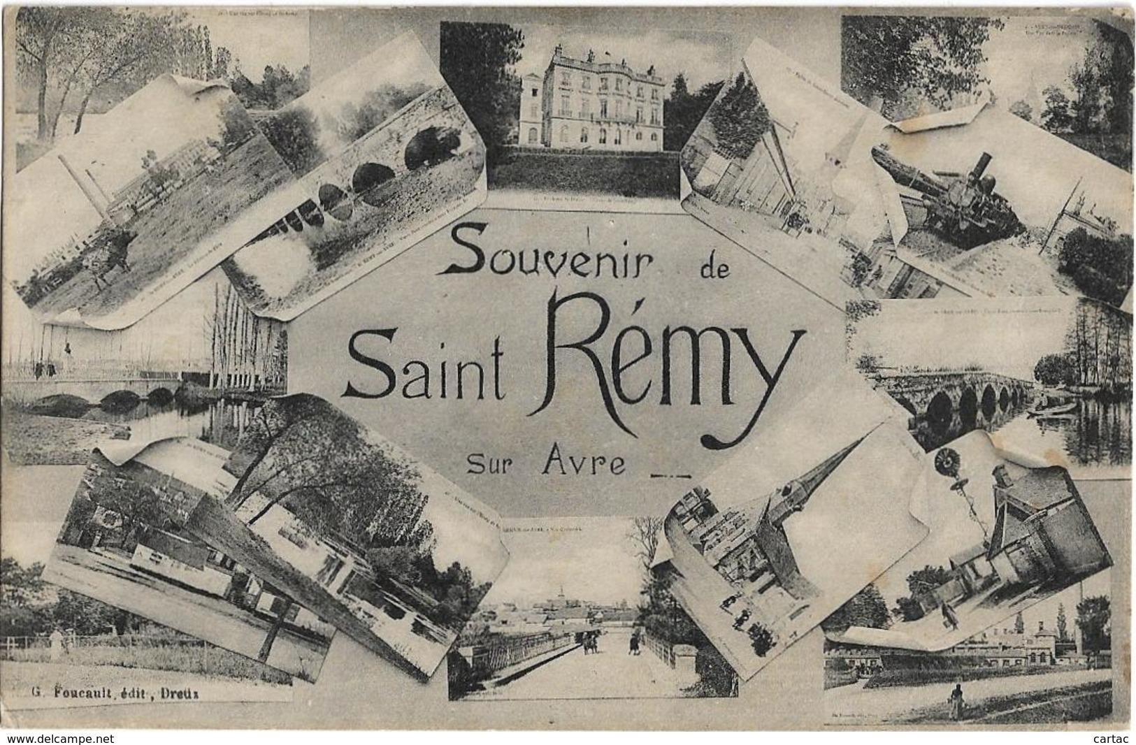 D28 - SAINT REMY - SOUVENIR DE SAINT REMY SUR AVRE - Carte Fantaisie Multivues - France