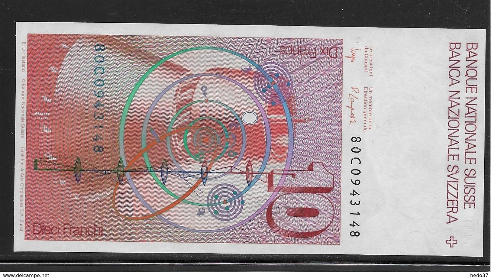 Suisse - 10 Francs - Pick N°53 - NEUF - Suiza