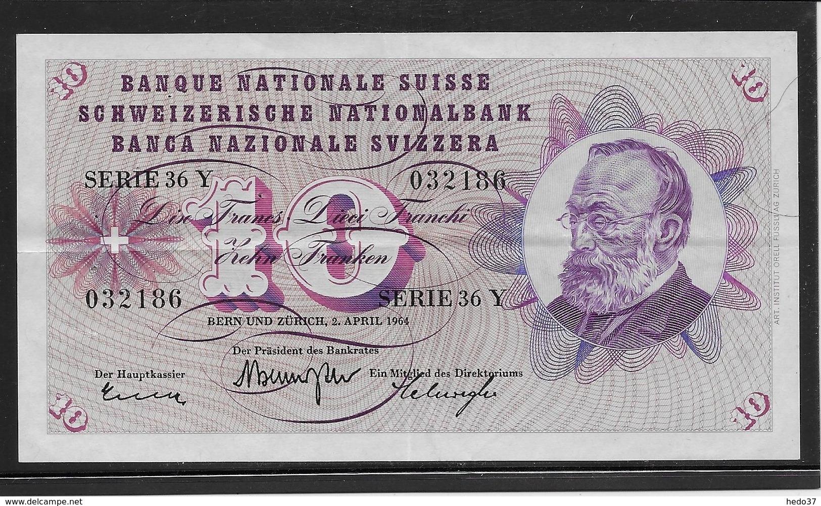 Suisse - 10 Francs - Pick N°45i - SUP - Suiza