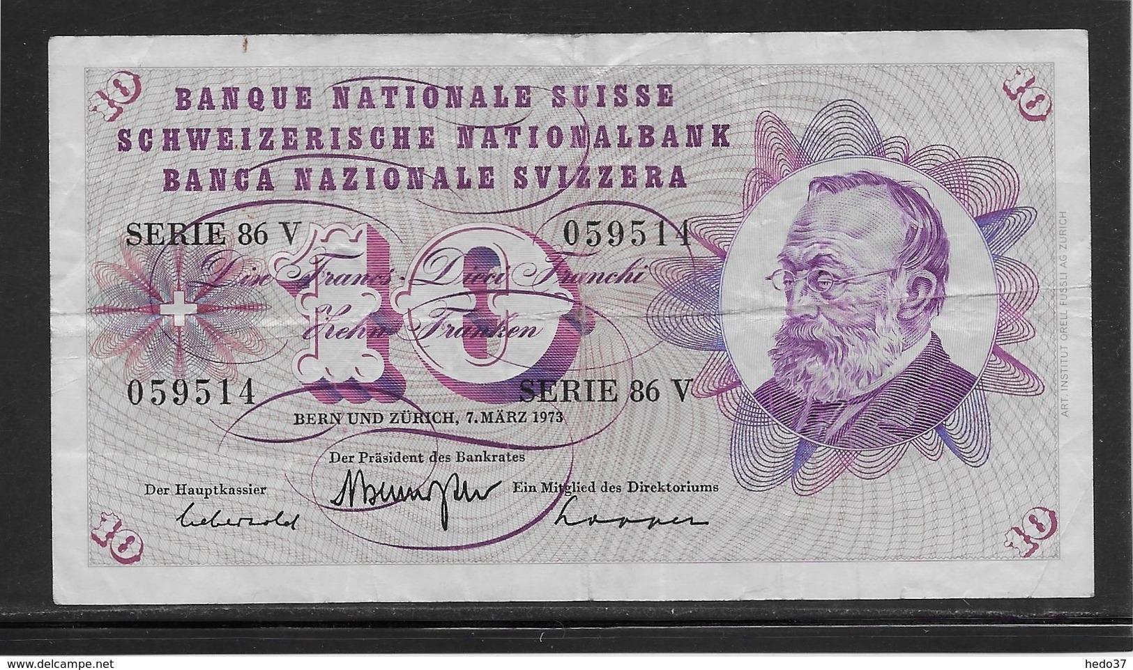 Suisse - 10 Francs - Pick N°45p - TB - Svizzera