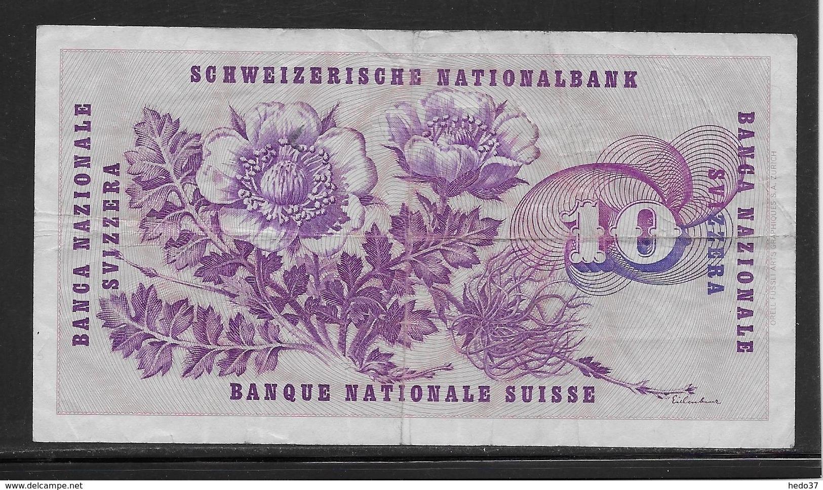 Suisse - 10 Francs - Pick N°45p - TB - Suiza