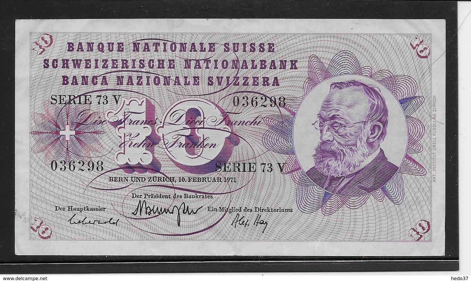 Suisse - 10 Francs - Pick N°45q - TTB - Switzerland