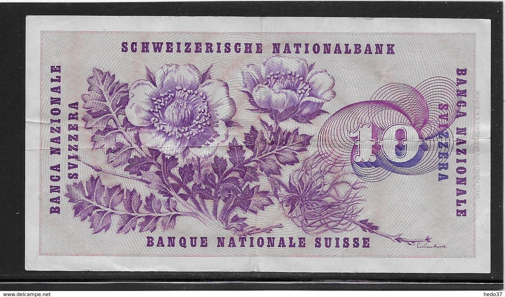 Suisse - 10 Francs - Pick N°45u - TTB - Suiza