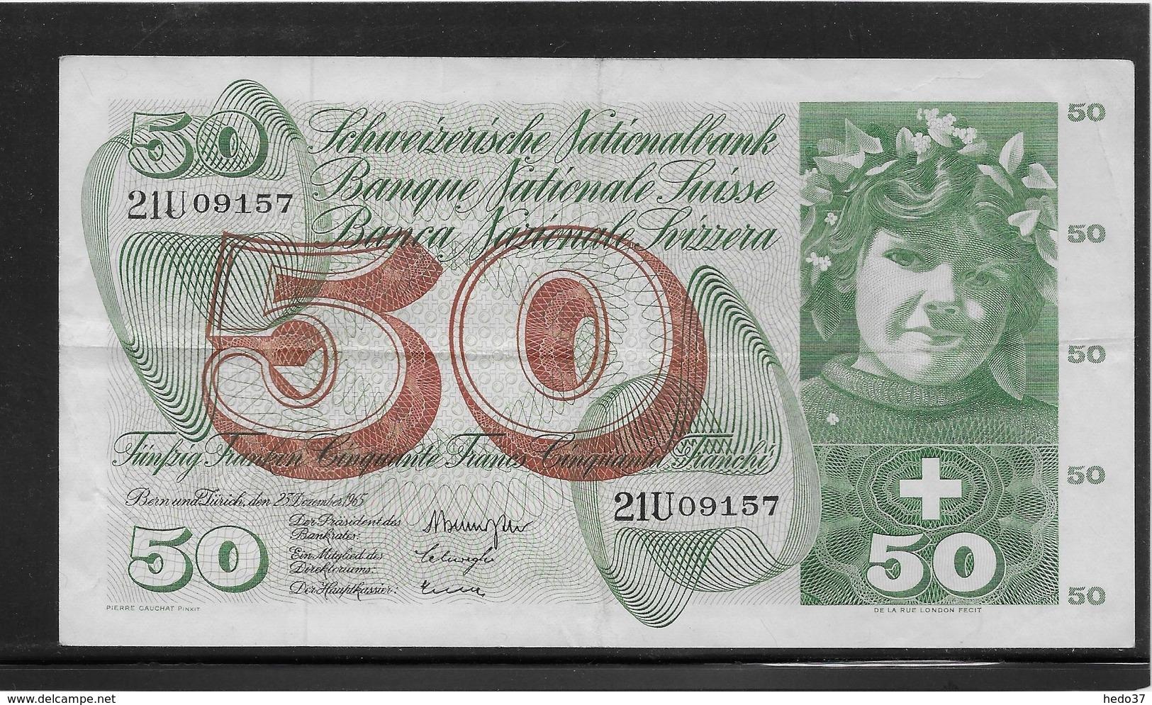 Suisse - 50 Francs - Pick N°48f - TTB - Suiza