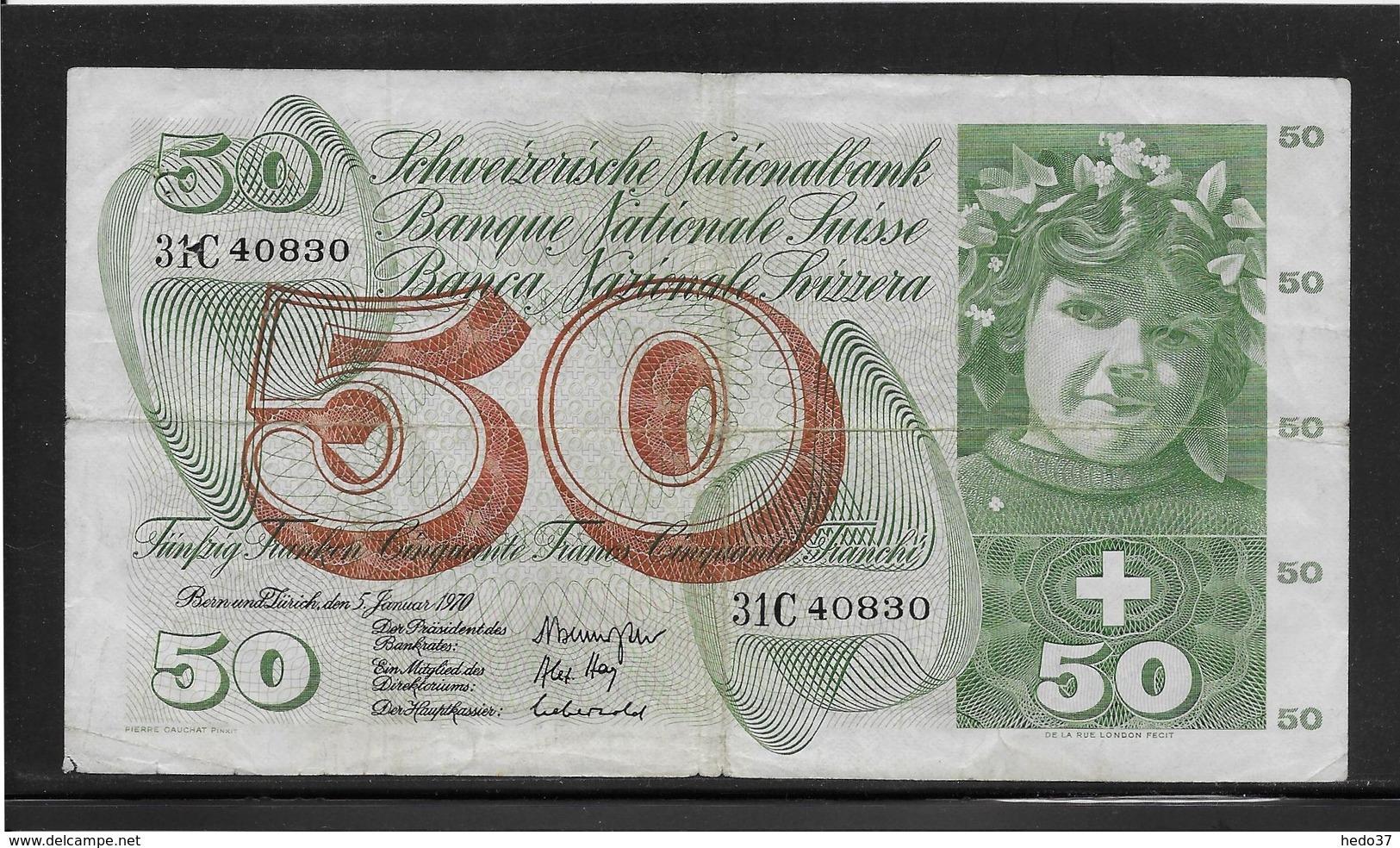 Suisse - 50 Francs - Pick N°48j - TB - Suiza