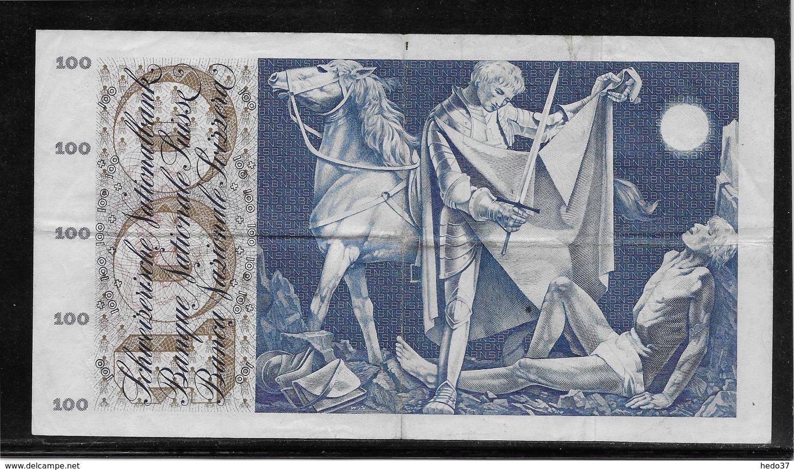 Suisse - 100 Francs - Pick N°49e - TTB - Suiza