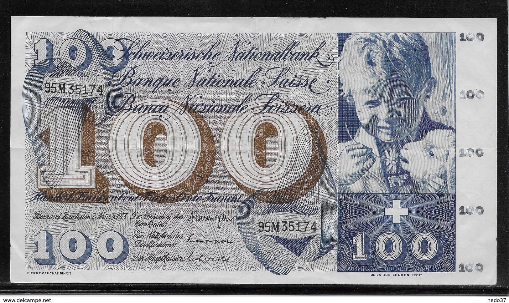 Suisse - 100 Francs - Pick N°49o - TTB - Switzerland