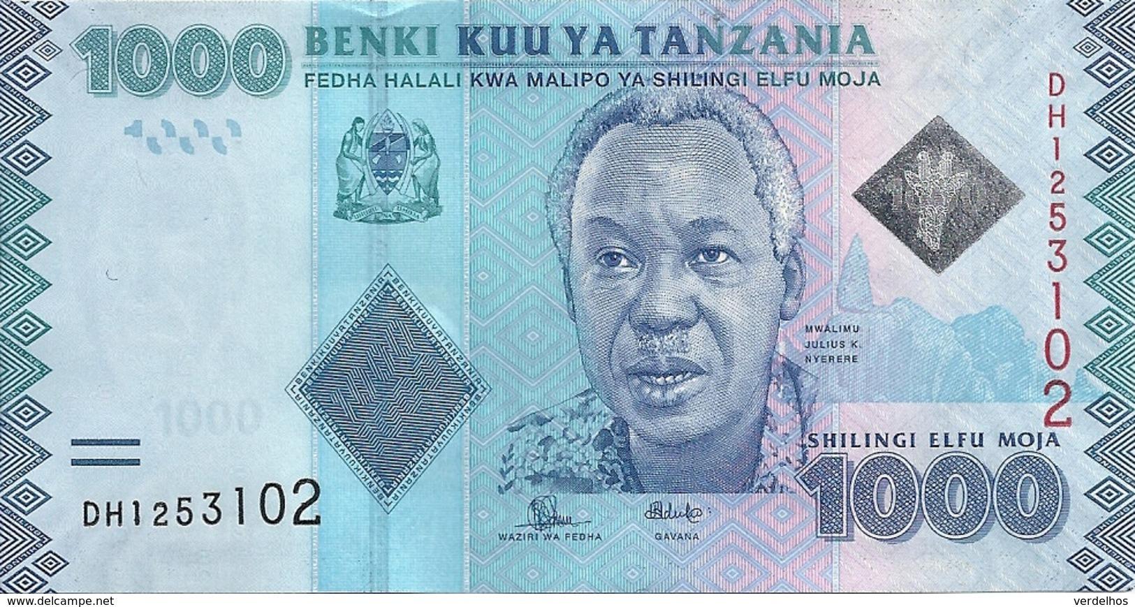 TANZANIE 1000 SHILINGI ND2015 UNC P 41 B - Tanzania