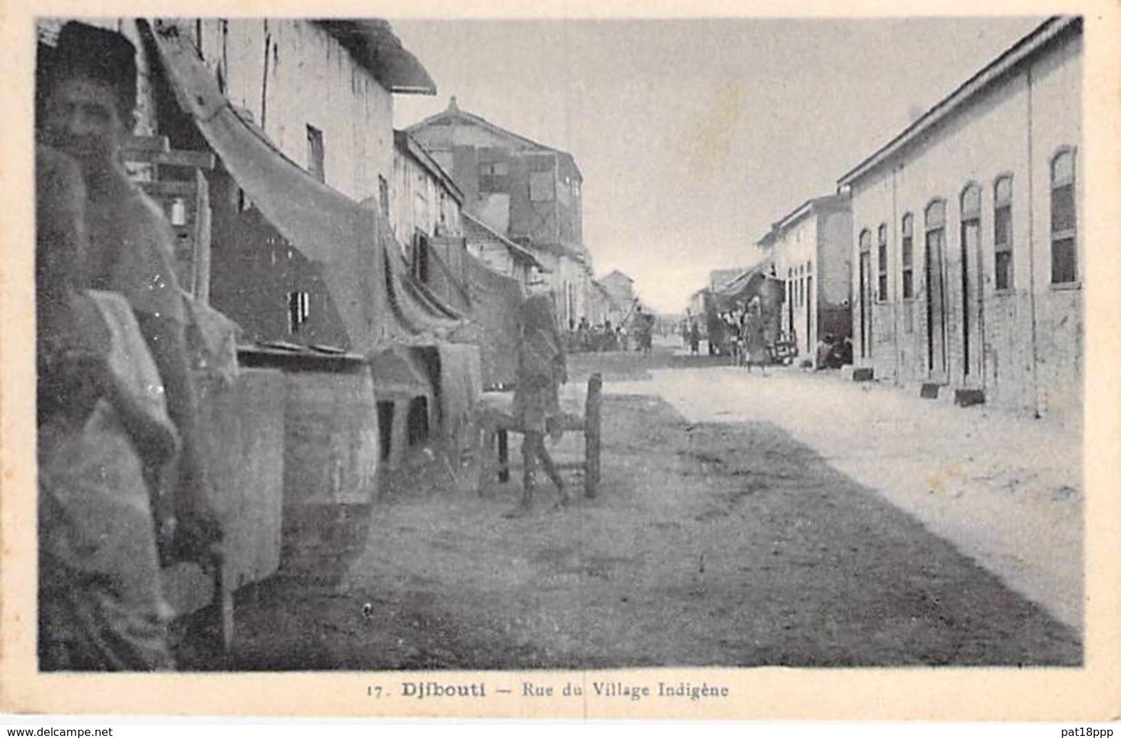 DJIBOUTI - Rue Du Village Indigène - CPA - Afrique Noire - Black Africa - Gibuti