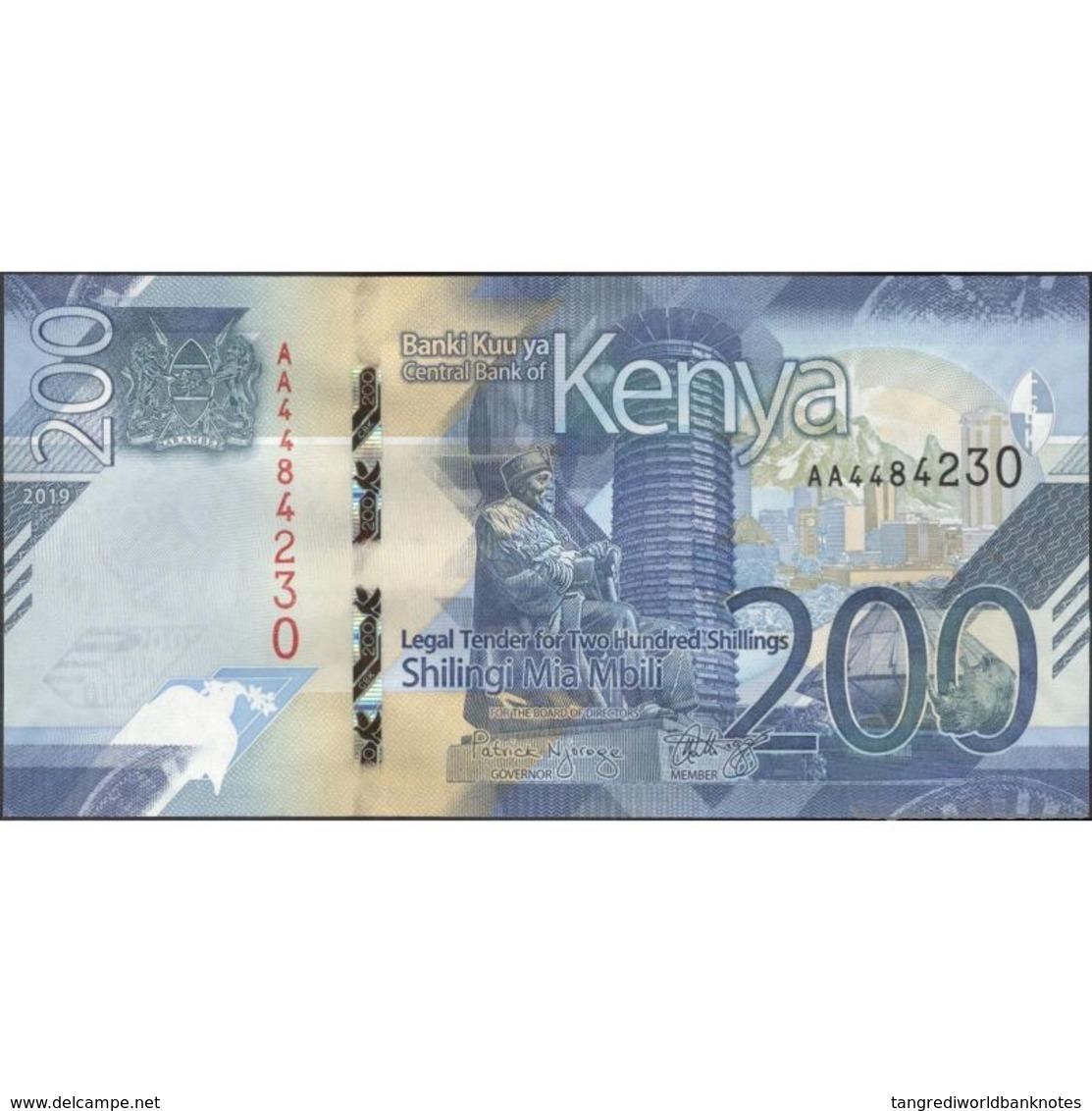 TWN - KENYA NEW - 200 Shillings 2019 Prefix AA UNC - Kenia