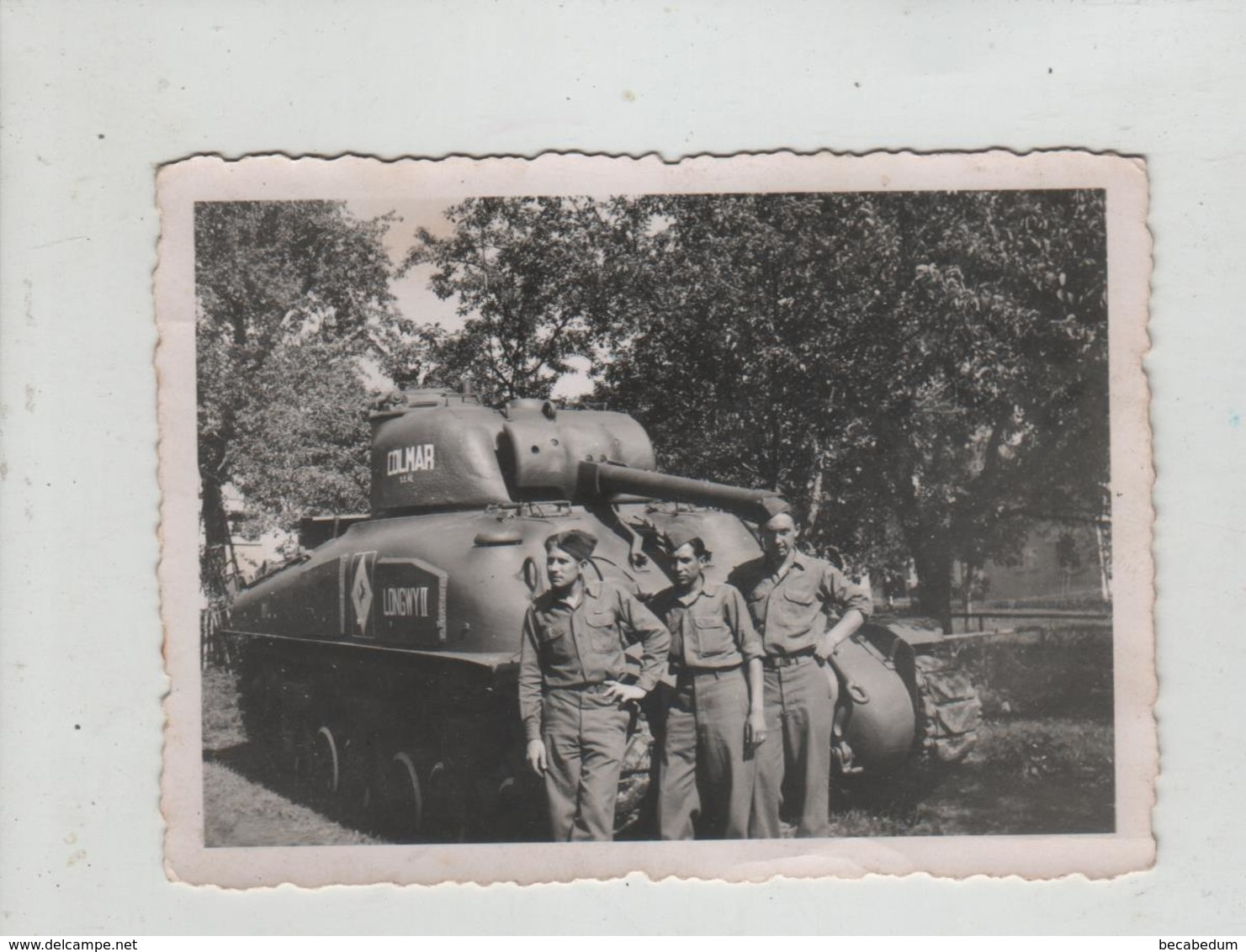 Photo Originale Char Tank à Identifier 1945  DB Allemagne Colmar - Krieg, Militär