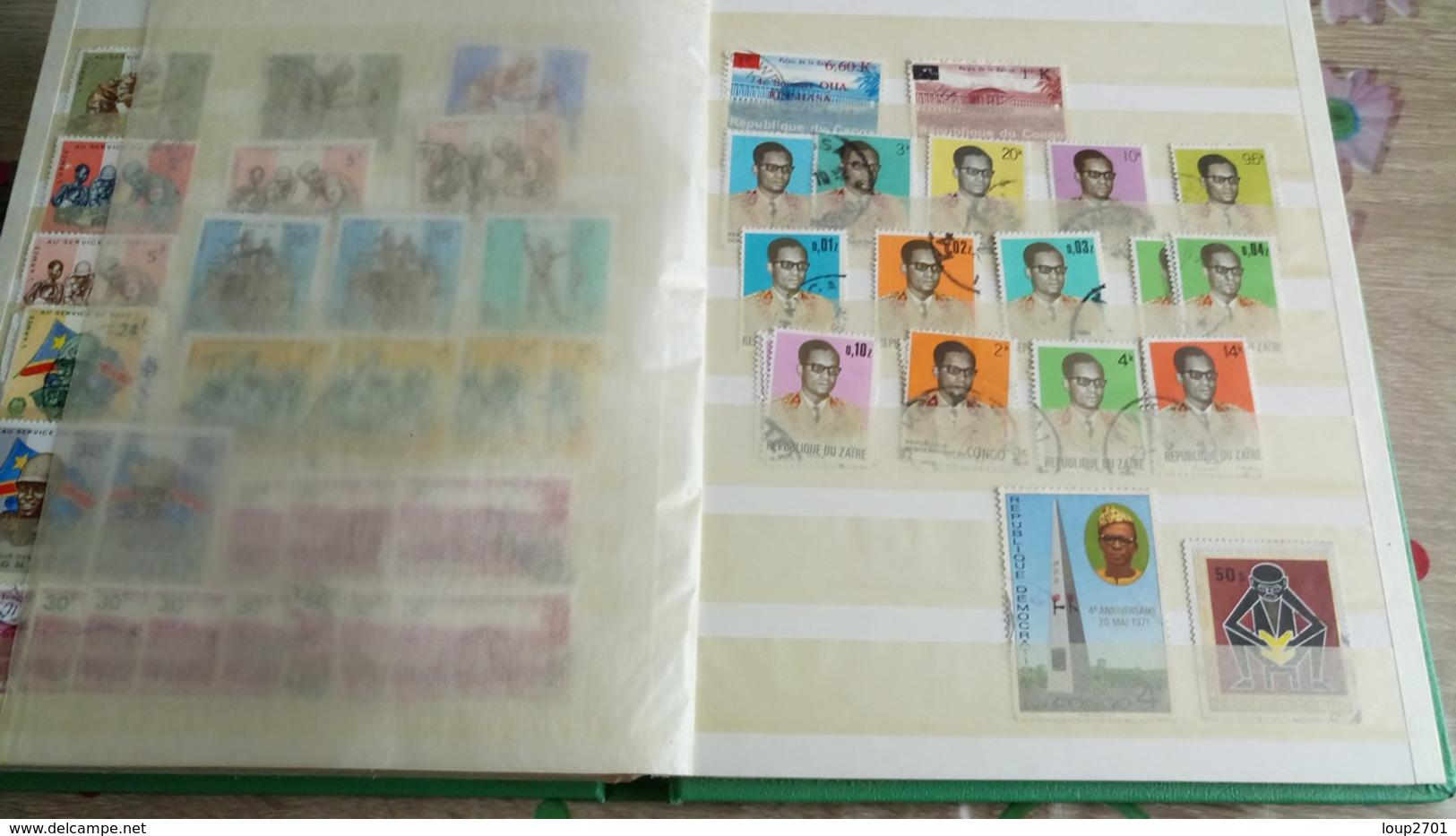 F309 ALBUM STOCK CONGO BELGE + DIVERS A TRIER BELLE COTE POIDS 0.600 KG DÉPART 10€ - Sammlungen (im Alben)