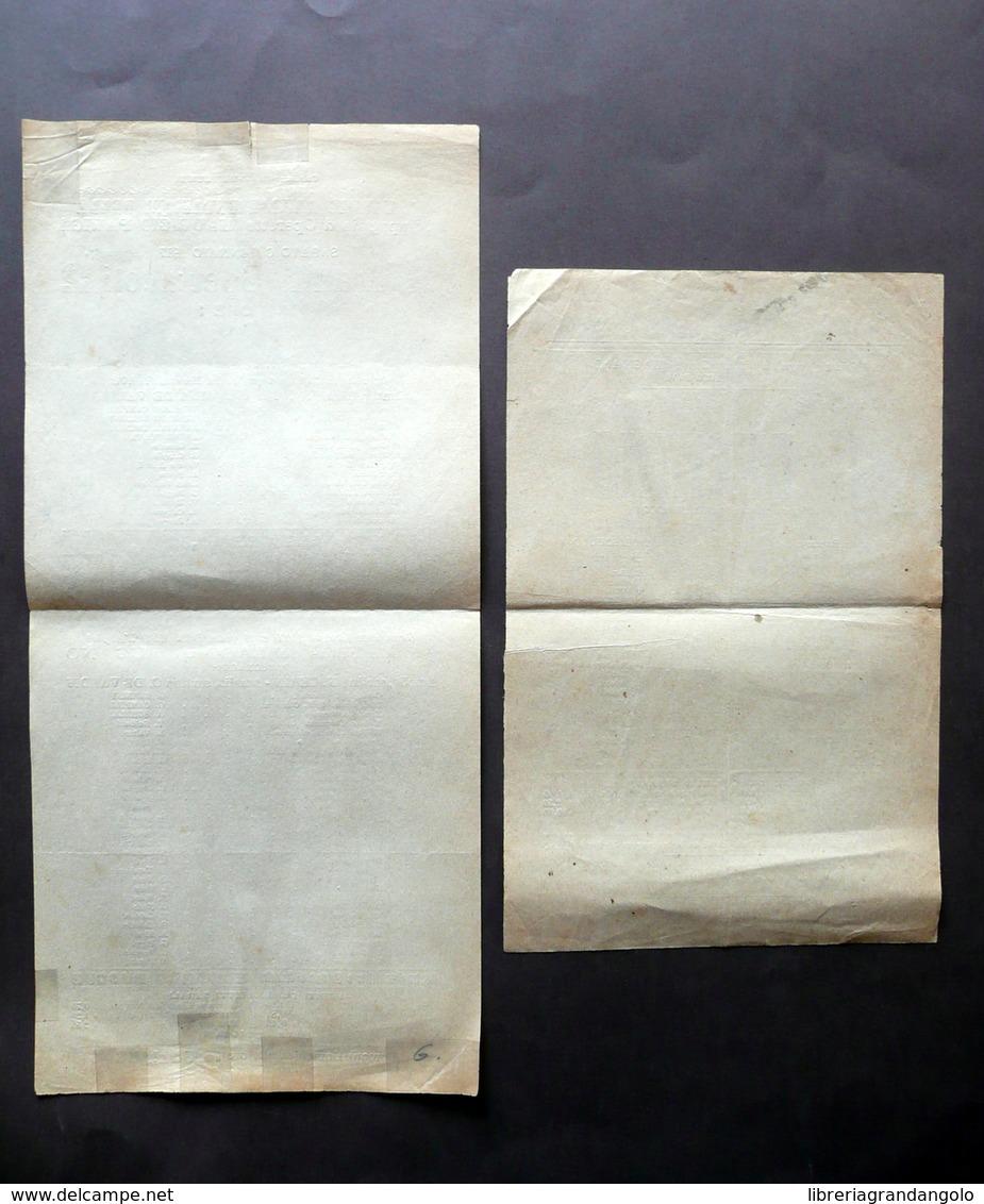 Teatro Storchi Modena Due Locandine Santarellina Il Duchino Operette 1914-1917 - Vecchi Documenti