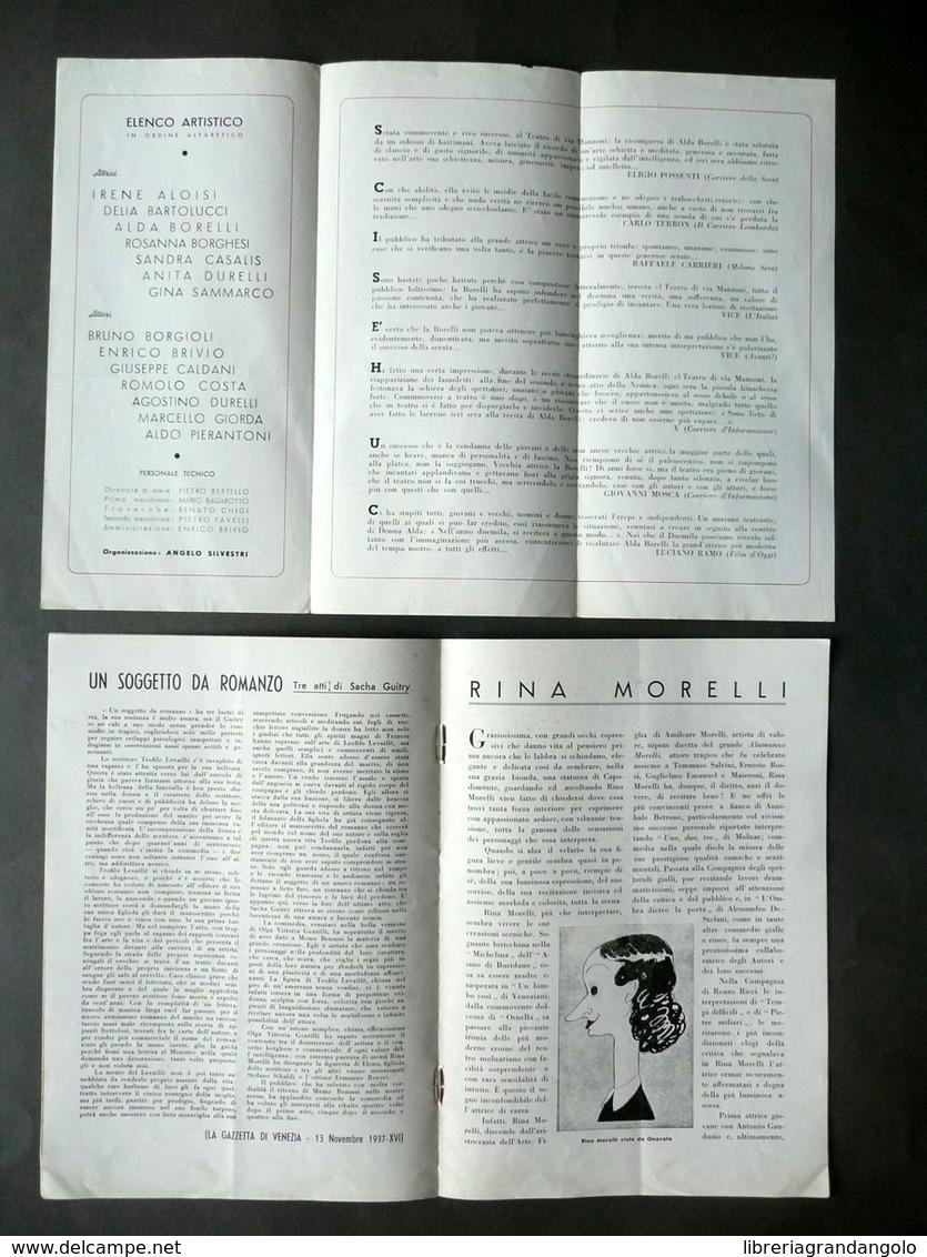 Alda Borelli Memo Benassi Rina Morelli Libretto Pieghevole Teatro 1937-52 - Vecchi Documenti