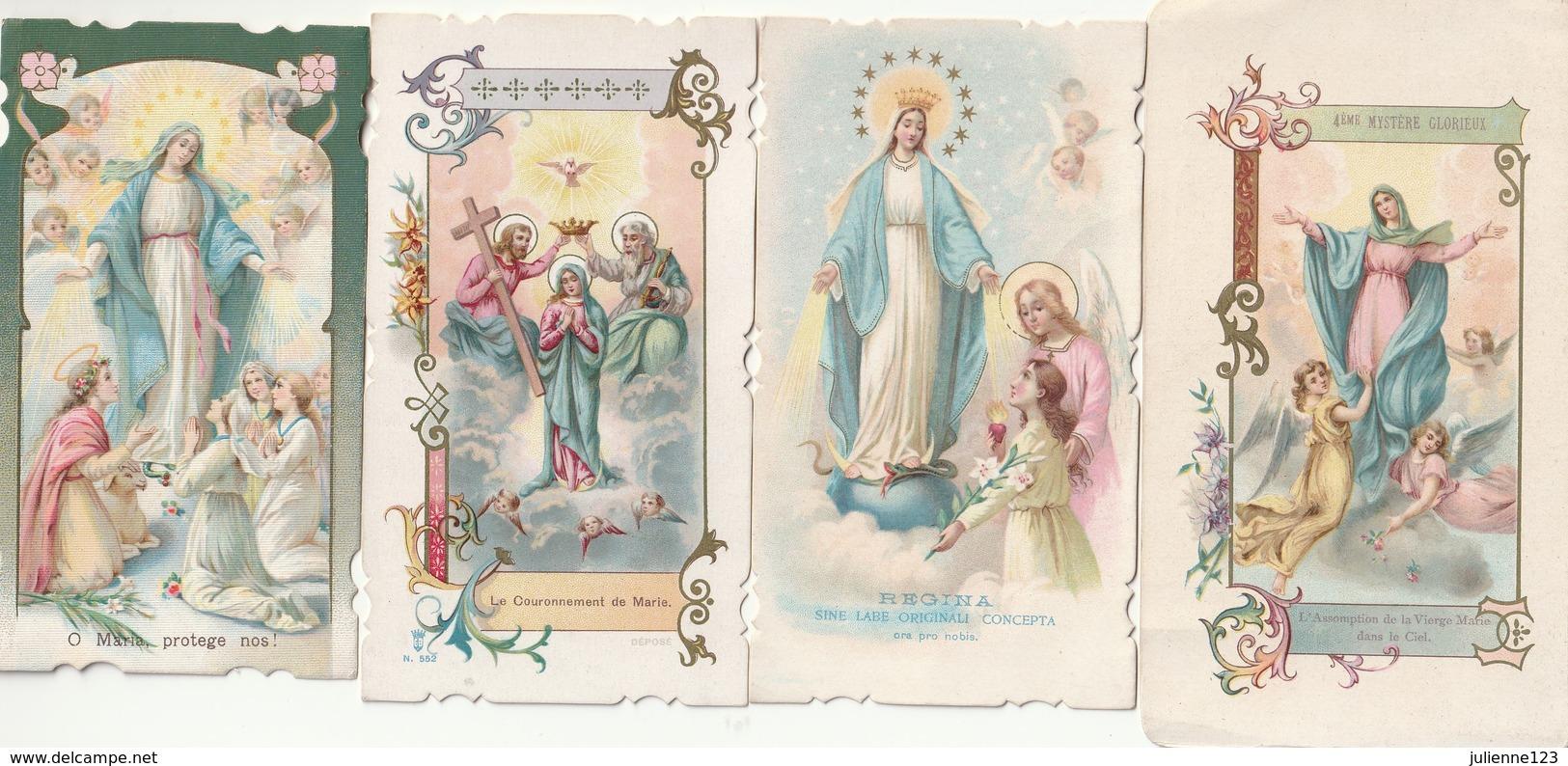 4 MOOIE OUDE HEILIGE PRENTJES - Religion & Esotericism