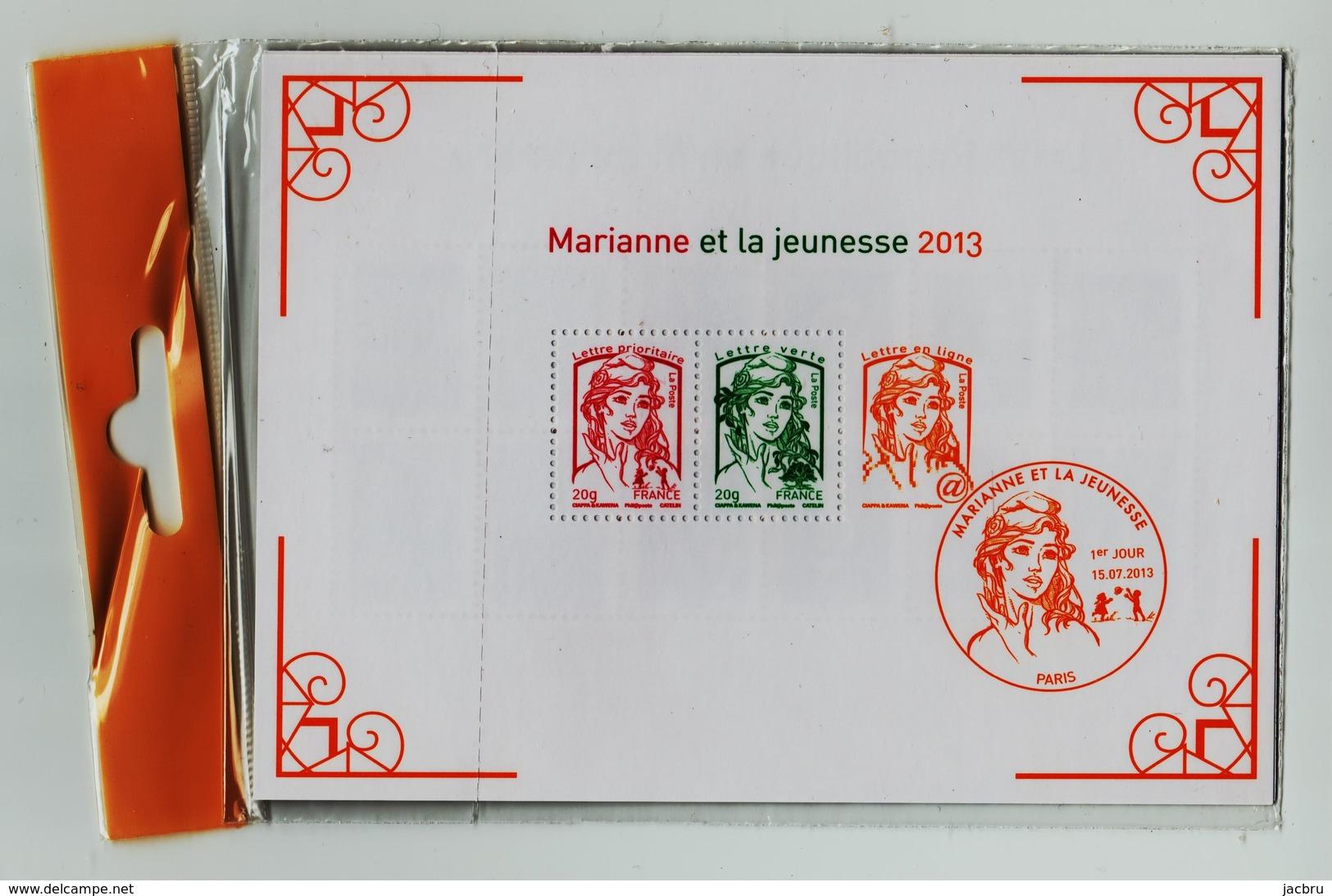 Bloc 133  Marianne Et La Jeunesse 2013 Et La Vème République Au Fil Du Timbre  Sous Blister - Blocs & Feuillets