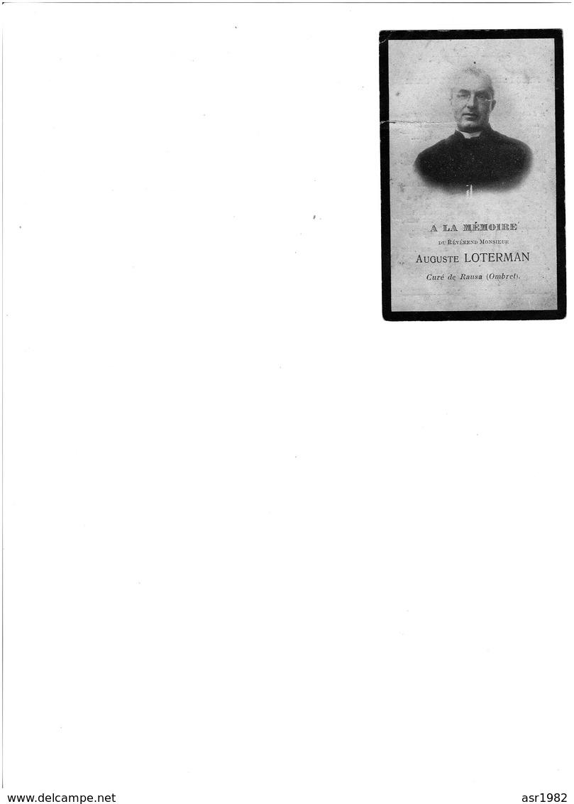 Doodsprentje Pastoor : Elst - Blegny - Rausa ( Ombret )  . - Religion & Esotericism