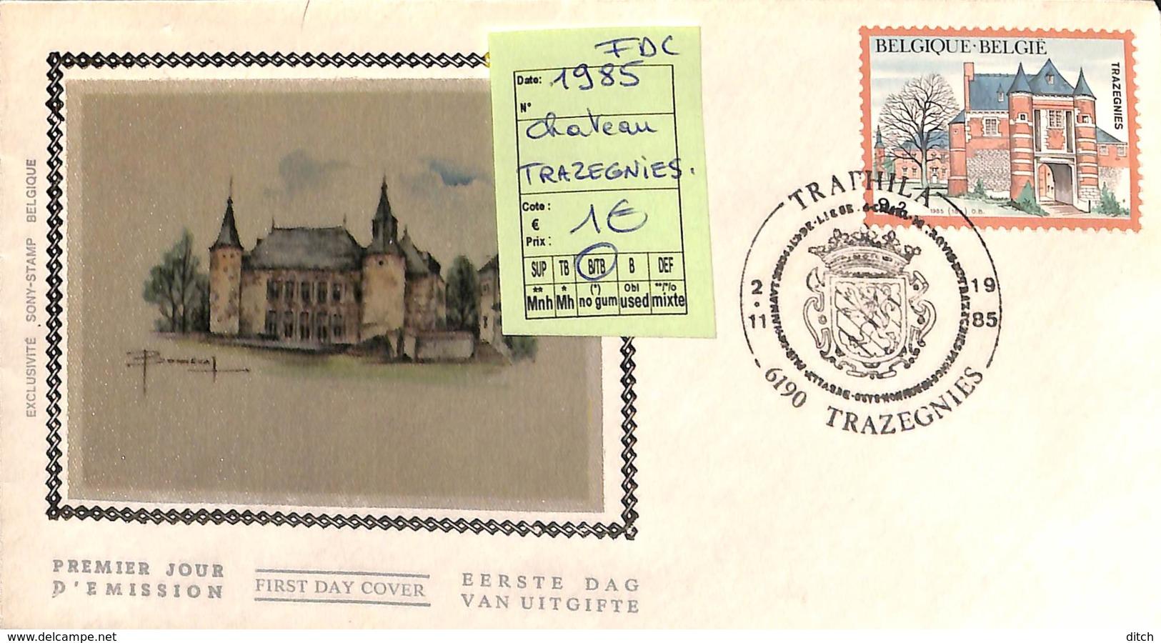 D - [408204]B/TB//**/Mnh-belgique 1985 - Trazegnies, Châteaux, Armoiries - Castillos