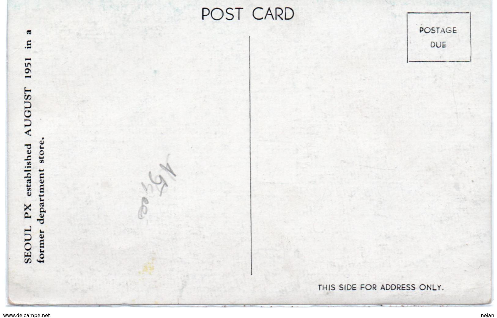 SEOUL PX AUGUST 1951-NON VIAGGIATA - Corea Del Sud