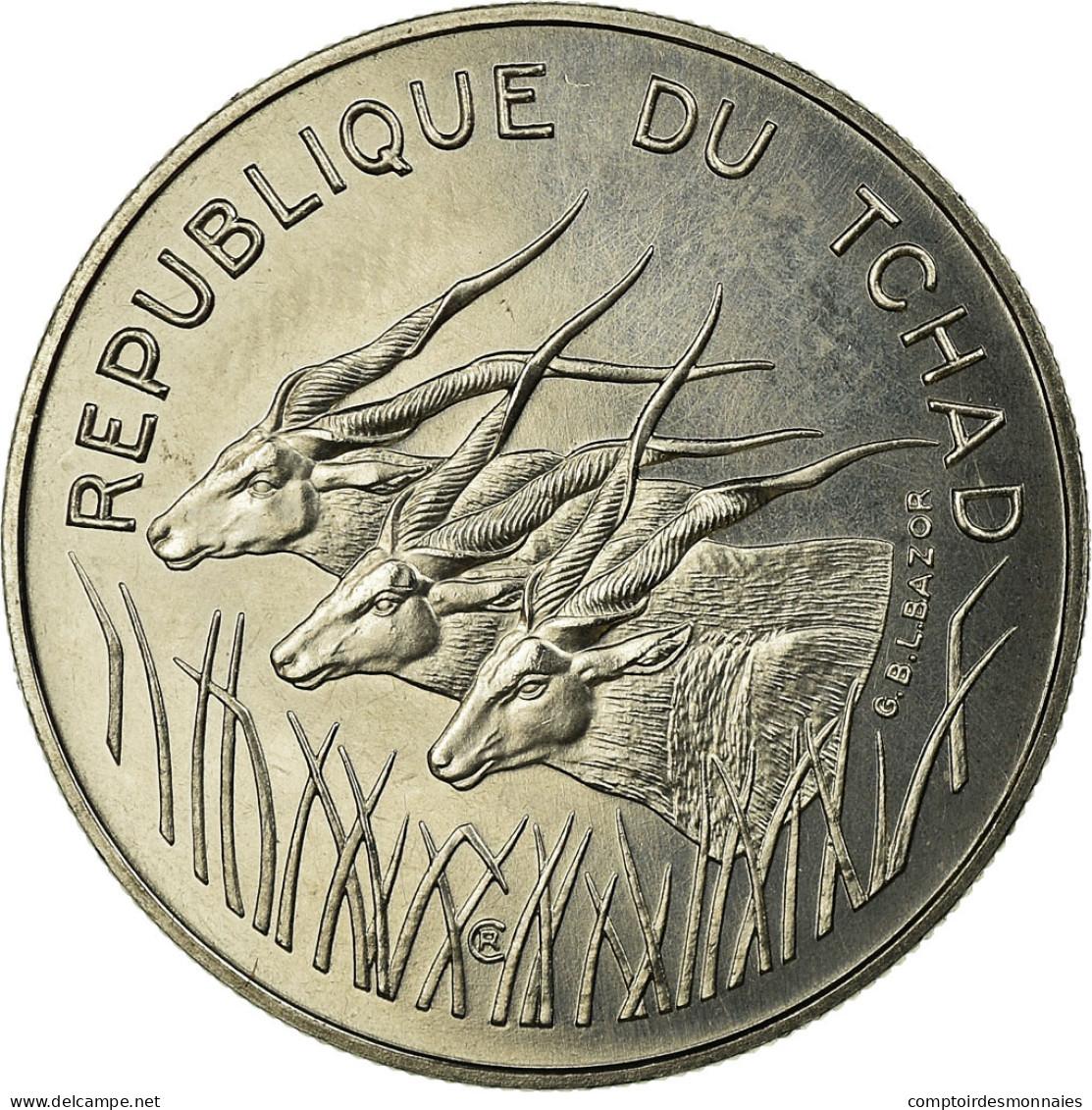 Monnaie, Chad, 100 Francs, 1975, Paris, ESSAI, FDC, Nickel, KM:E5 - Ciad