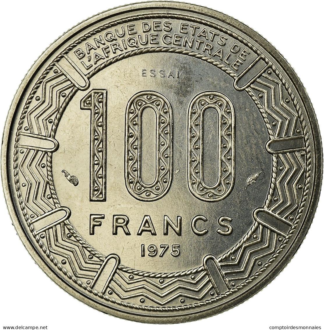 Monnaie, Chad, 100 Francs, 1975, Paris, ESSAI, FDC, Nickel, KM:E5 - Tsjaad