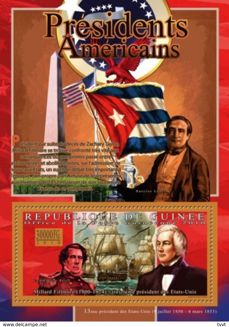 Guinea, 2010. [gu10502] US Presidents, Millard Fillmore (s/s+block) - George Washington