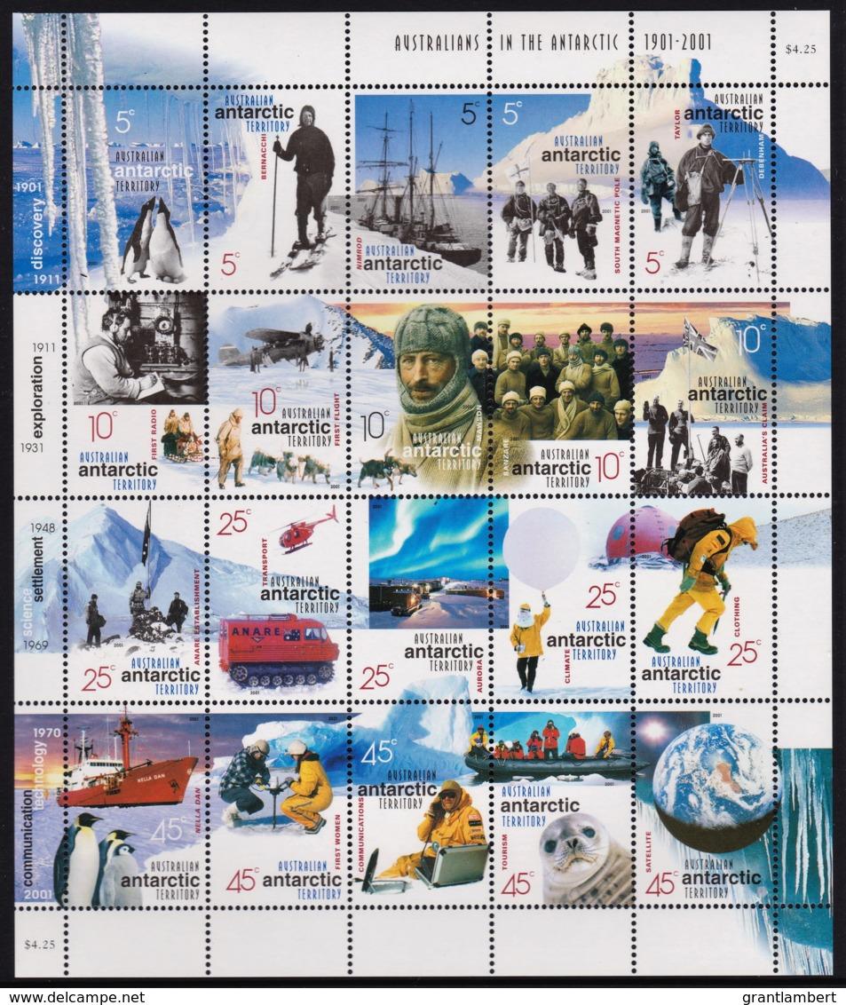 Australian Antarctic 2001 Australians In The Antarctic Sheet MNH - Unused Stamps