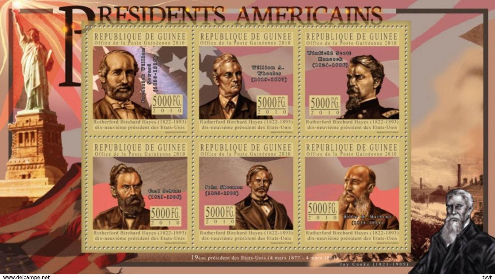 Guinea, 2010. [gu10512] US Presidents, Rutherford B. Hayes (s/s+block) - George Washington