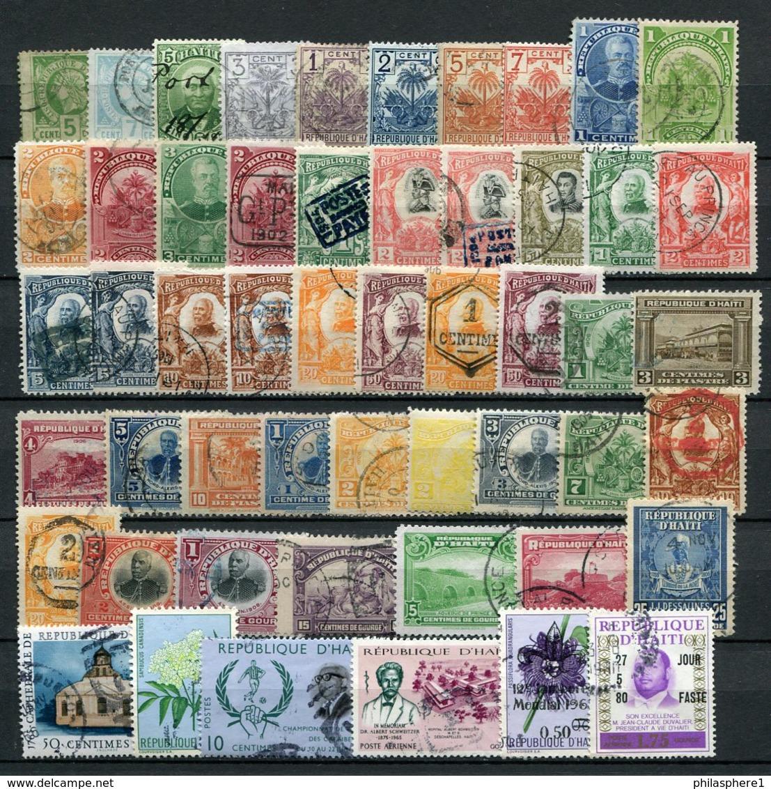 Haiti Kleine Sammlung / Lot       O  Used, *  Unused + (*) No Gum           (166) - Haiti