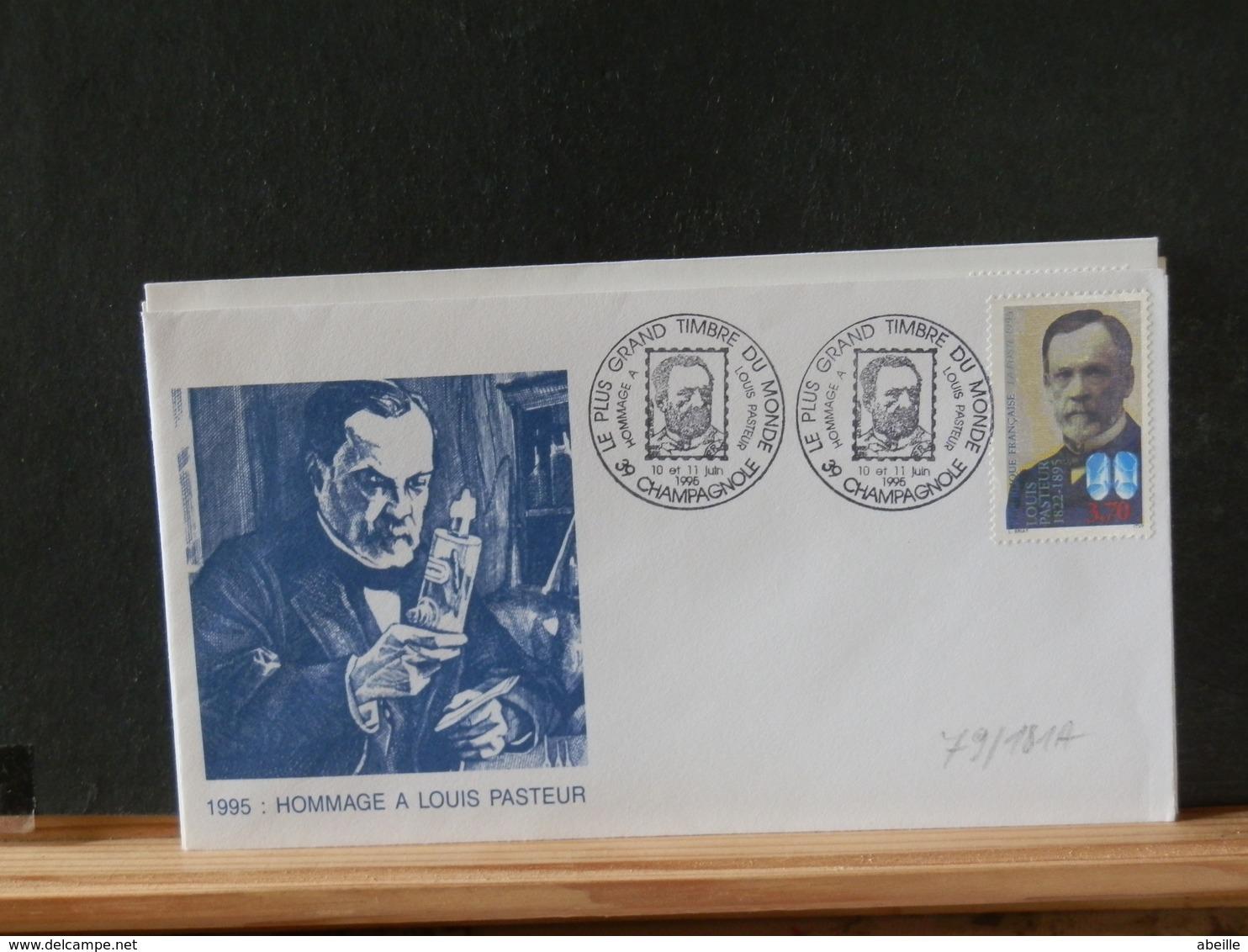 79/181A   FDC  FRANCE - Louis Pasteur