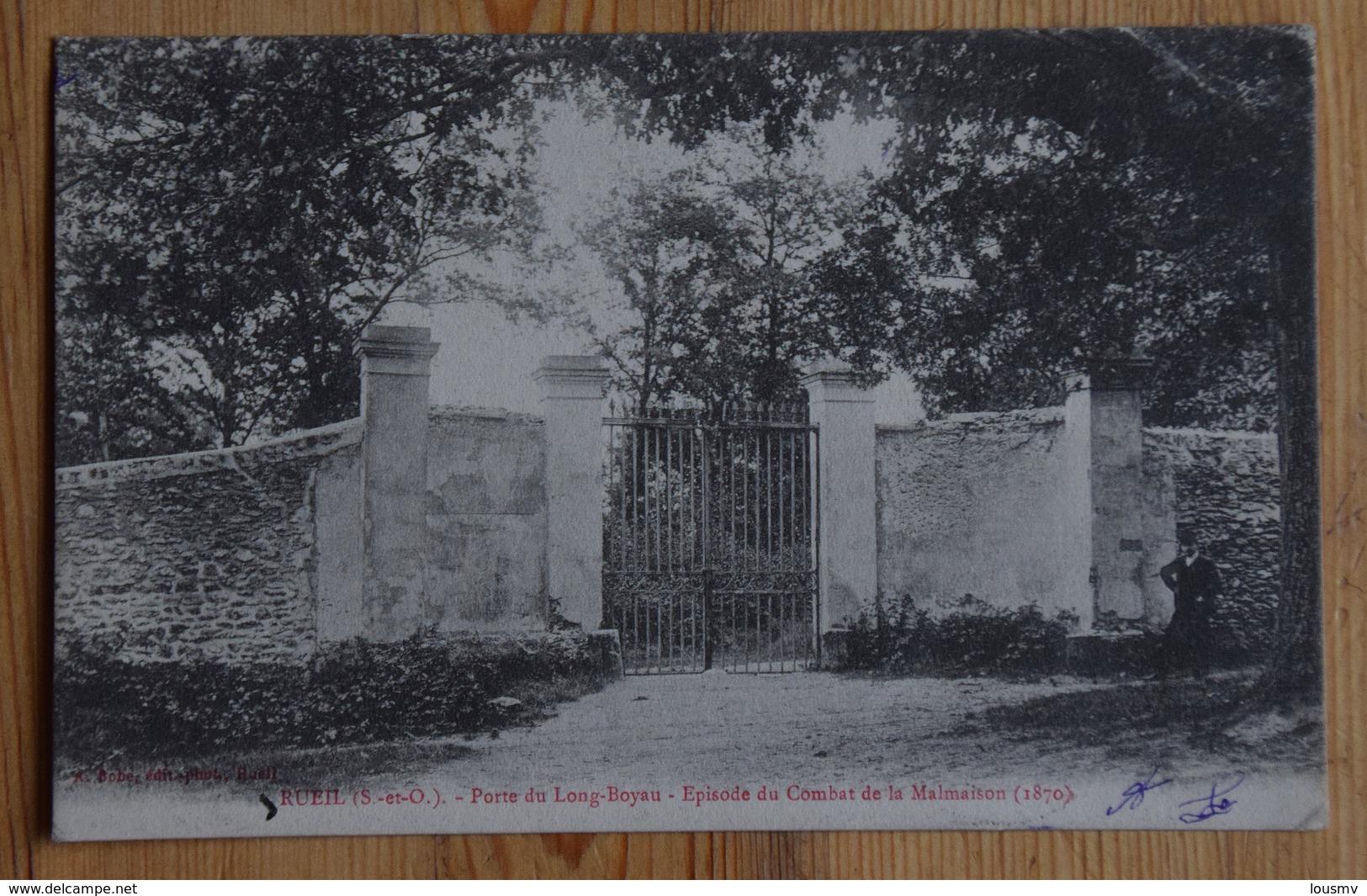 92 : Rueil - Porte Du Long-Boyau - Episode Du Combat De La Malmaison 1870 - Dos Simple - Petit Pli D'angle - (n°15245) - Rueil Malmaison