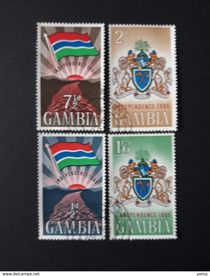 N° 199 à 202       Indépendance  -  Drapeau Et Armoiries  -  Oblitérés - Gambie (1965-...)