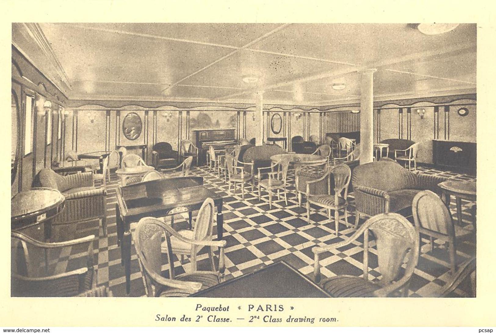 """Paquebot """"Paris"""" - Salon Des 2è Classe. - Paquebots"""