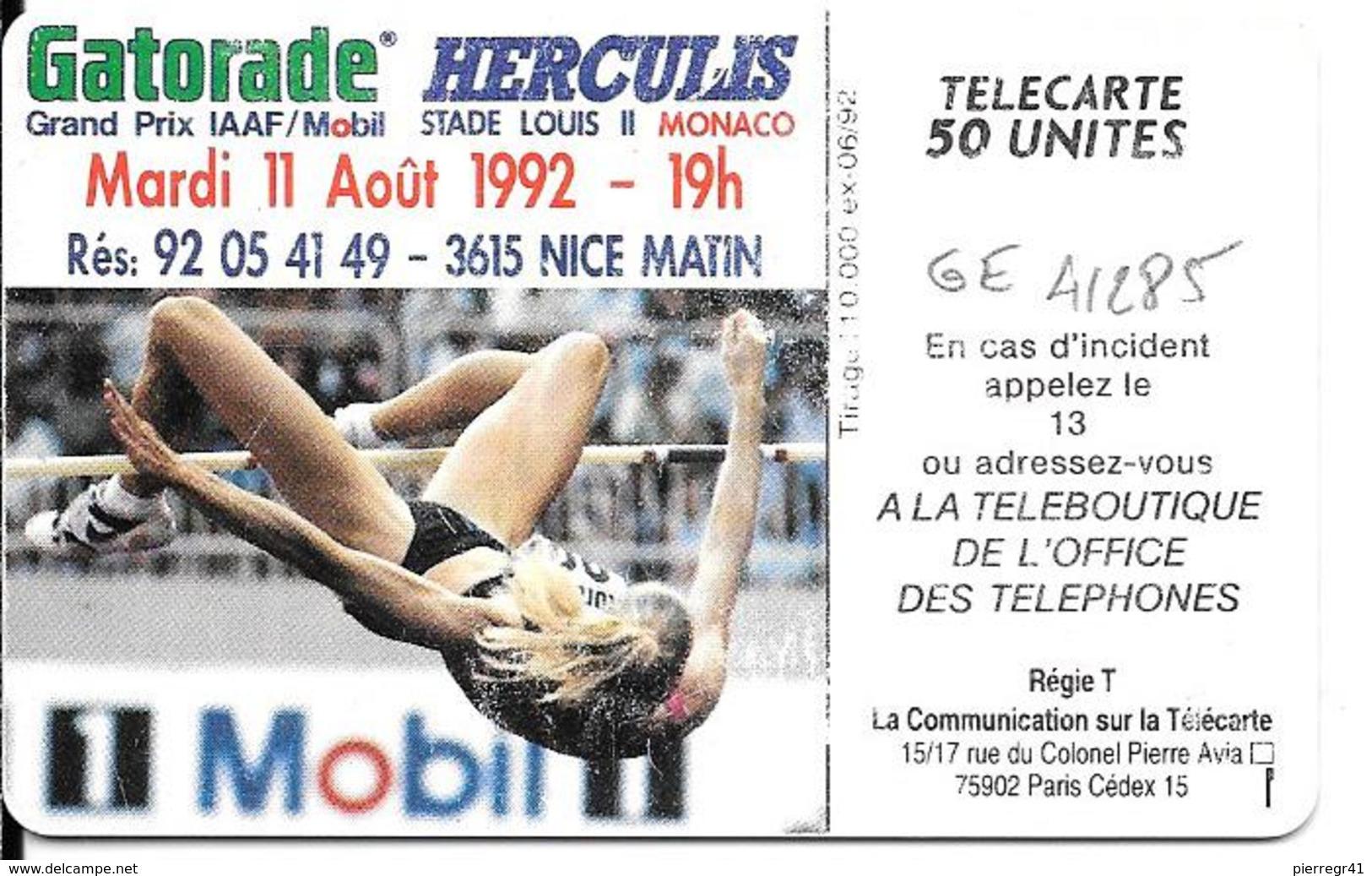 CARTE-PUCE-MONACO-50U-MF 24-SC5-HERCULIS 92-V°N°5 Ge41285-UTILISE-BE- - Monaco