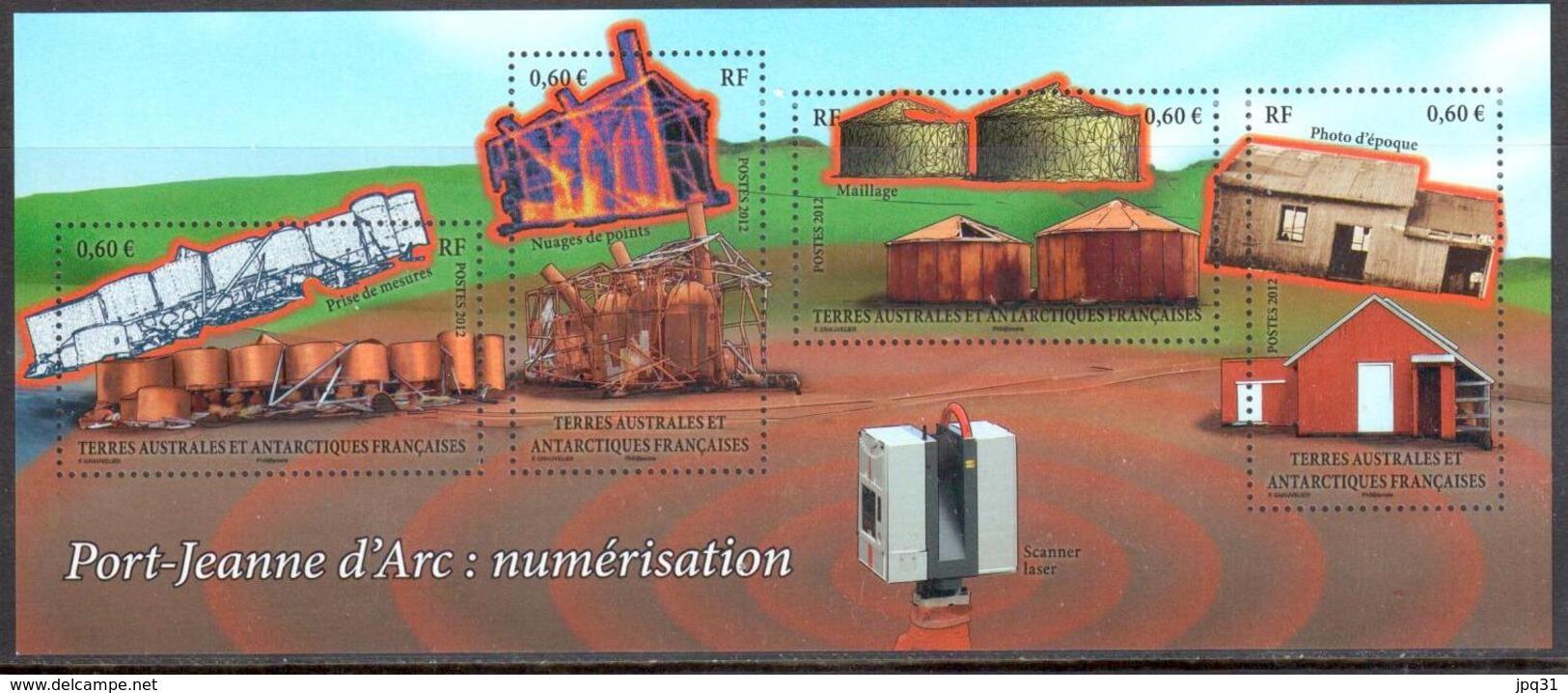TAAF - 2012 - BF Numérisation De Port-Jeanne D'Arc ** - Blocks & Kleinbögen